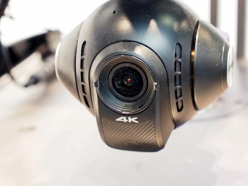 4K動画の撮影に対応した、Yuneec社の最新モデル「TYPHOON Q500 4K」