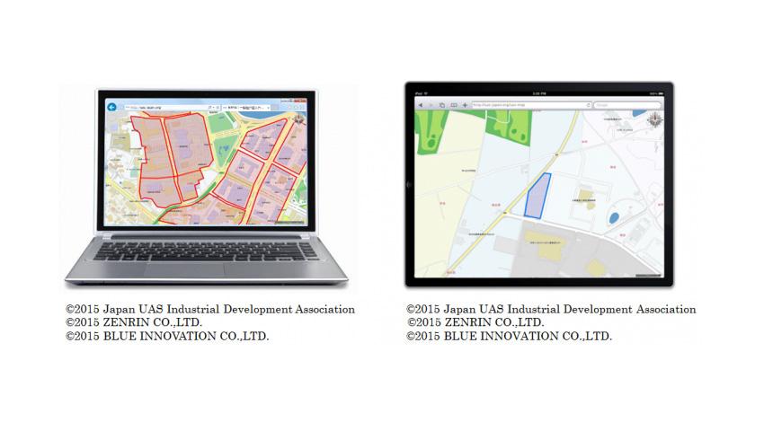 JUIDA、ゼンリン、ブルーイノベーションとともにドローン専用飛行支援地図サービスを共同開発へ
