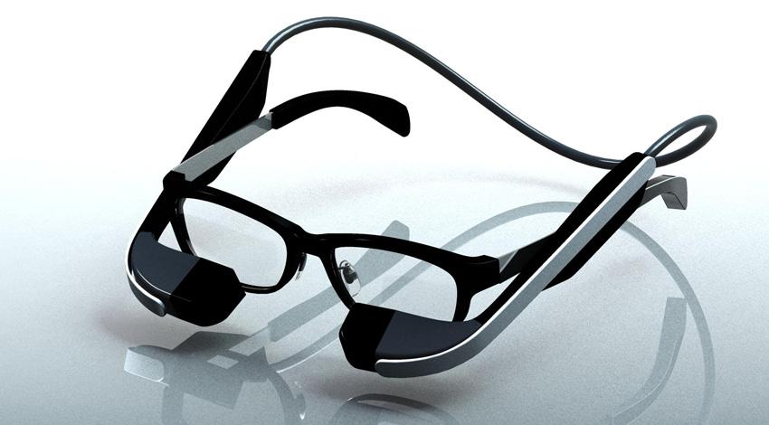 メガネスーパー、メガネ型ウェアラブル端末の商品プロトタイプ実機を2015年12月に発表