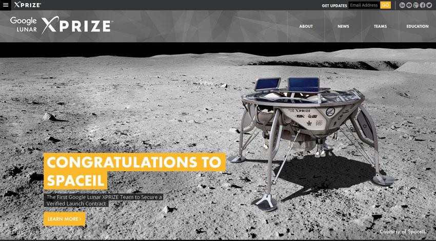 グーグル・ルナーXプライズに挑戦するイスラエルのチームがスペースXのファルコン9で民間の月面ミッションに臨むべく打ち上げ契約を初めて締結
