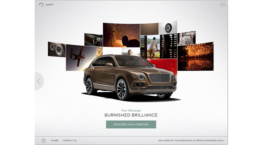 Bentley、感情や表情から具体的な車両仕様を提案するアプリケーション「Inspirator」発表