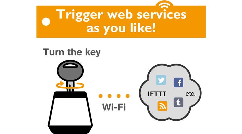 Cerevo、Webサービスと連携する小型の鍵スイッチ「Hackey」発売~ヤフーの「myThings」にも対応。API利用で独自サービス連携も可能~