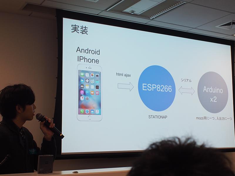 IoTシンセサイザーを作ってみた 井上氏@東京工芸大学