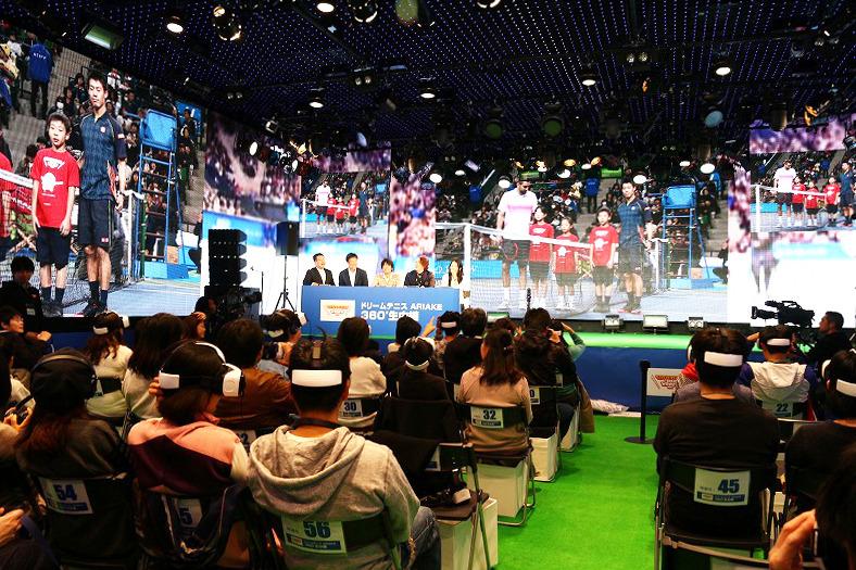 錦織のテニスを、サムスンGear VRで360°体験!しかもリアルタイム!