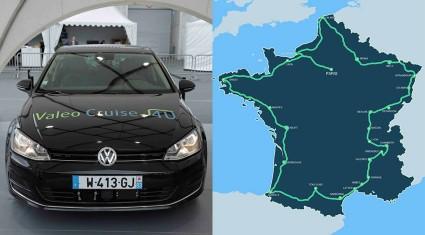 ヴァレオの自動運転車Cruise4U、フランス一周コースを走破