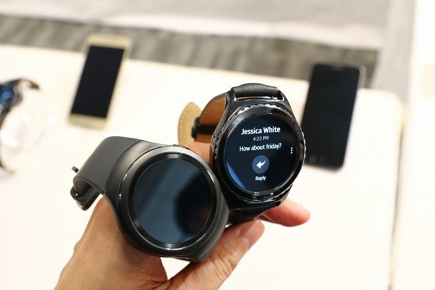 サムスン(Samsung)、ウェアラブルデバイス「Gear S2」「Gear S2 classic」12月18日発売