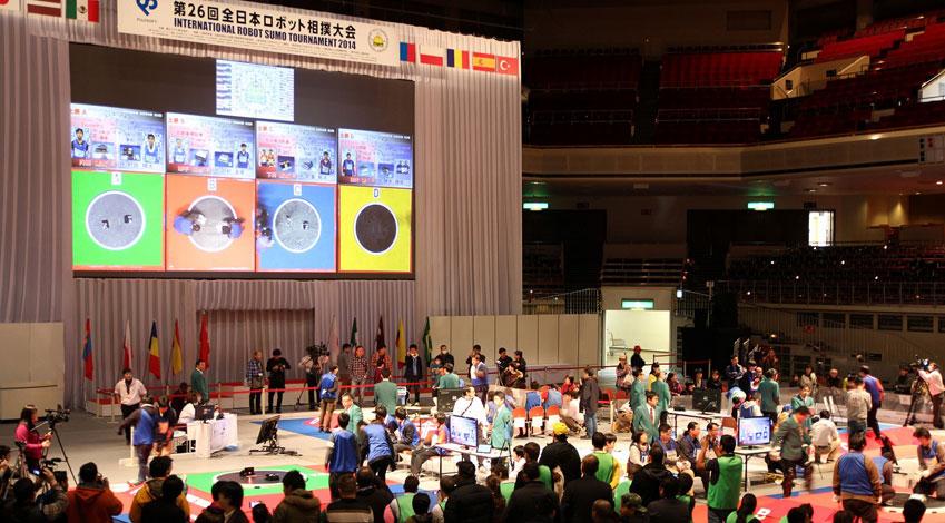 富士ソフト、ロボット相撲の世界一決定戦 第2回世界大会「INTERNATIONAL ROBOT SUMO TOURNAMENT 2015」開催。