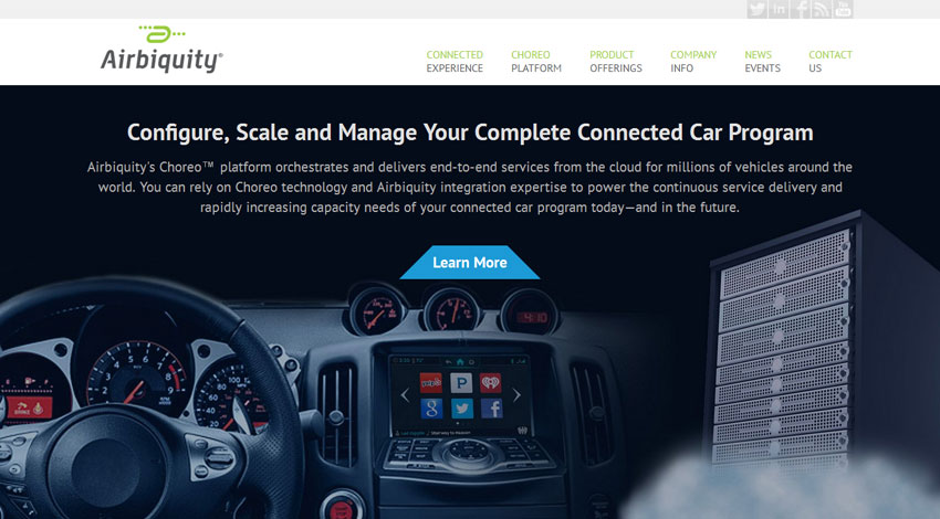 Airbiquity、世界の自動車市場でインフォテインメント提供サービスを拡大