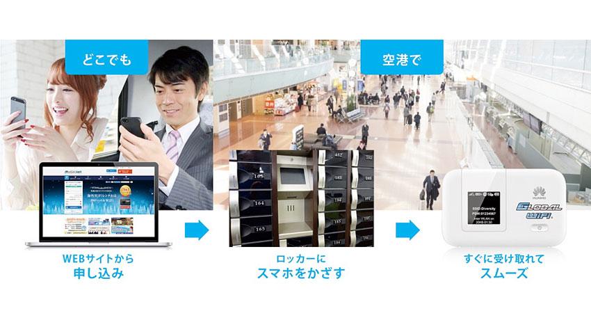 ビジョン、海外用Wi-Fiルーターレンタル「グローバルWiFi®」をスマホキーで受け取れるスマートピックアップに、スマート宅配BOX ®を採用