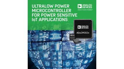 アナログ・デバイセズ、IoTアプリケーション機器の動作寿命を伸ばす超低消費電力マイクロコントローラ新シリーズを発表