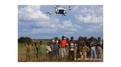 ユニセフ、ドローンでHIV検査の短縮化狙う、マラウイで血液サンプル輸送の試験飛行