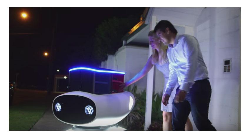ドミノ・ピザ、アツアツのピザを自動運転デリバリーロボット「DRU(ドリュー)」発表