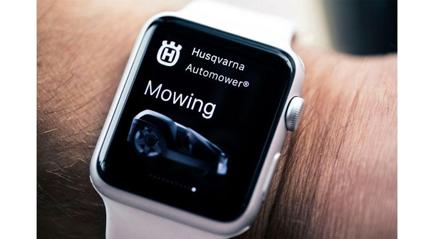 ハスクバーナ、ロボット芝刈り機向けApple Watch(TM)アプリを発表