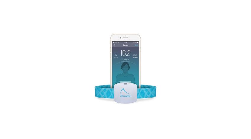 ねむログ、寝つきをサポートするウェアラブルセンサー&アプリ「ツーブリーズ」を販売