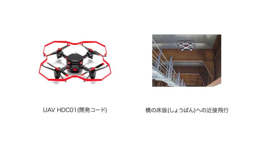 デンソー、路の橋などインフラ点検に活用する産業用UAV(ドローン)を開発