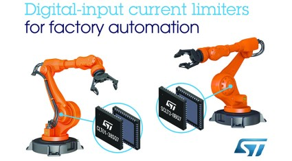 ST、工場自動化システムの消費電力・コスト・基板面積を低減する高速デジタル入力電流リミッタICを発表