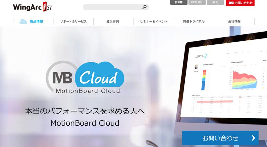 ウイングアーク1st、クラウド型BIダッシュボードサービス「MotionBoard Cloud」のアップデートを実施
