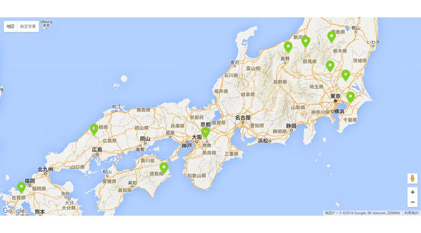 DJI、フライトマップに「ドローン飛行可能施設」情報の掲載開始