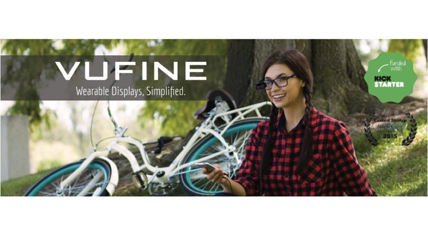 VUFINE、眼鏡装着型ウェアラブルディスプレイ「Vufine」 日本での正規販売開始
