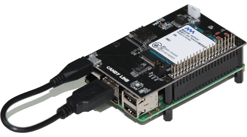CANDY LINE、ラズパイに搭載可能なLTE通信モジュールを発売