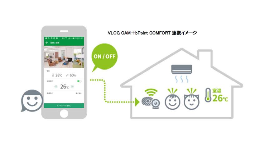 ブイログ、家電コントローラー内蔵環境センサー「bPoint COMFORT」発売