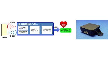 オムロン、非接触で脈拍が測定できる車載用センサー開発
