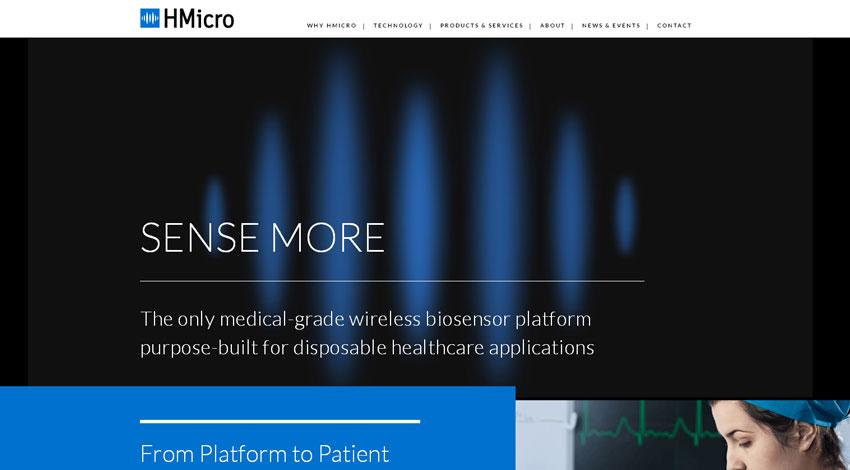 HMicroとSTマイクロエレクトロニクス、患者をケーブルから解放するウェアラブル・バイオセンサ・プラットフォームを発表