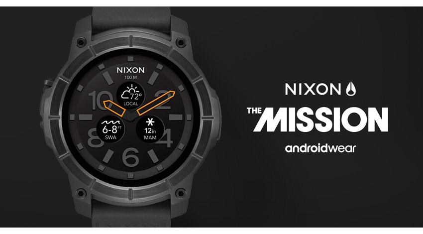 NIXON、アクションスポーツ対応スマートウォッチ「THE MISSION」日本で販売開始