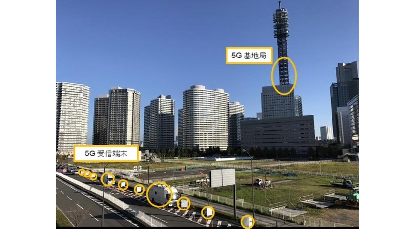 ファーウェイとドコモ、4.5GHz帯域を使用した5G大規模フィールド・トライアルに成功