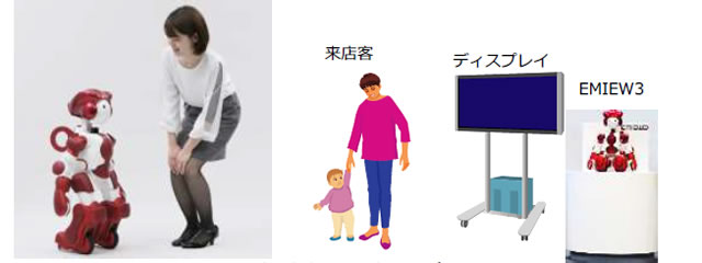 日立、家電量販店ノジマで ヒューマノイドロボット「EMIEW3」活用の実証実験を開始