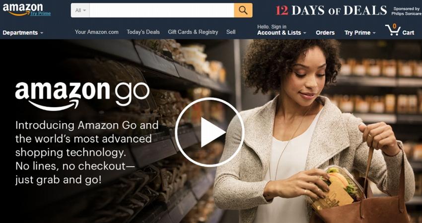 米Amazon、レジに並ぶ必要がない「Amazon Go」を発表