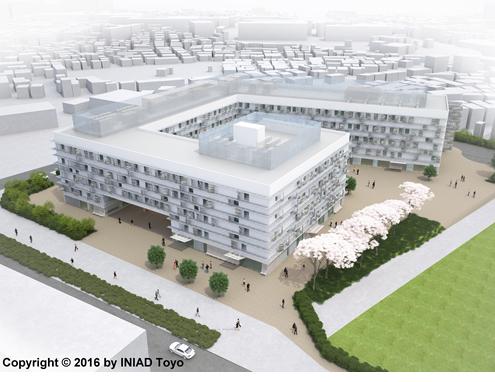 赤羽台キャンパス完成イメージ(2017年4月完成予定)
