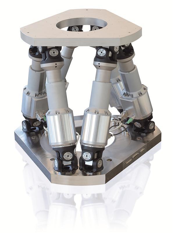DCモータ駆動6軸ヘキサポットシステム H-845シリーズ 1トンまでをミクロンで位置決めできる6軸ロボット ( ドイツ Physik Instrumente社製 )