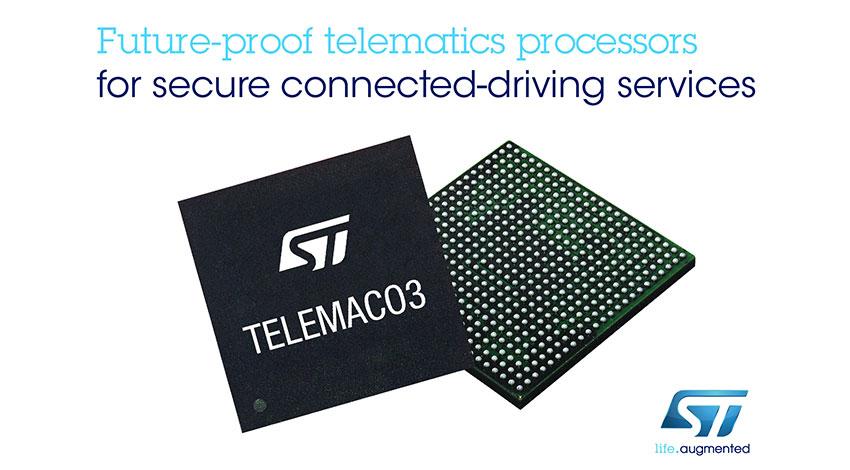 STマイクロエレクトロニクス、コネクテッド・ドライビング・サービスに対応するテレマティクス/コネクティビティ・プロセッサを発表
