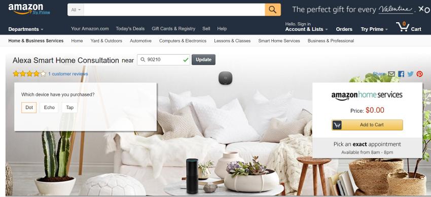 米アマゾンがアメリカで無料Smart Home Consultationサービスを開始