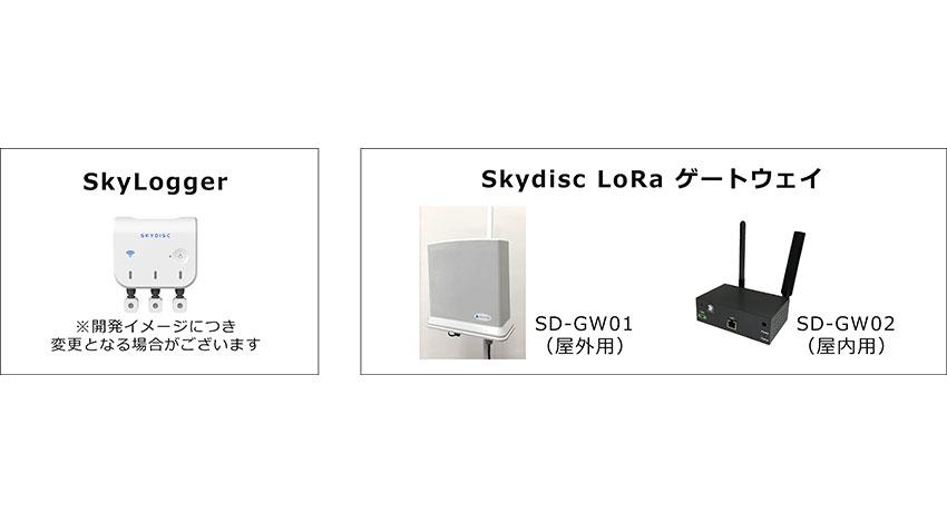 スカイディスク、LoRaWANを用いて約2kmの範囲で温湿度・照度等のセンシングデータ取得に成功