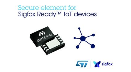 STマイクロエレクトロニクス、Sigfoxに対応するプラグ・アンド・プレイ型のIoTセキュア・エレメントを発表