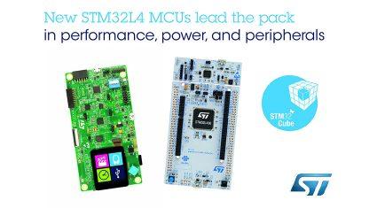 STマイクロエレクトロニクス、性能と効率を最適化した低消費電力マイコンSTM32L4シリーズの新製品を発表
