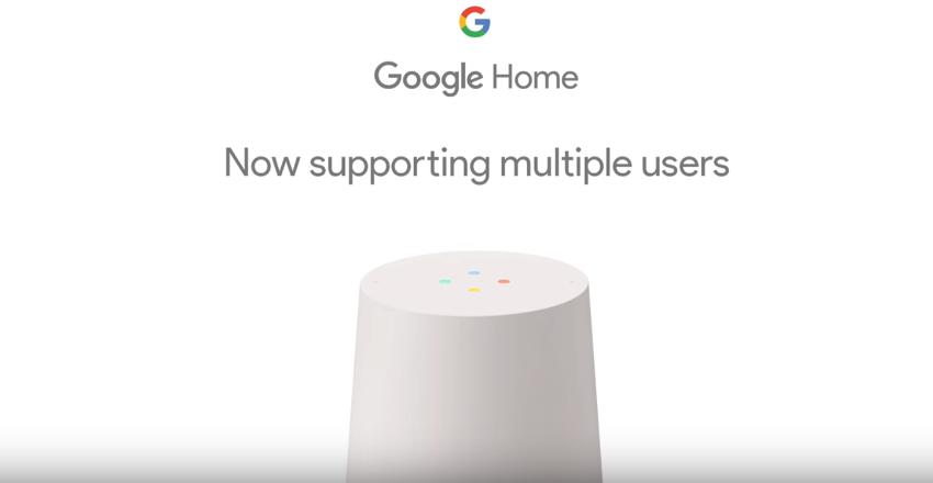 グーグルホーム、複数ユーザーサポート、個人を識別する音声認識機能を追加