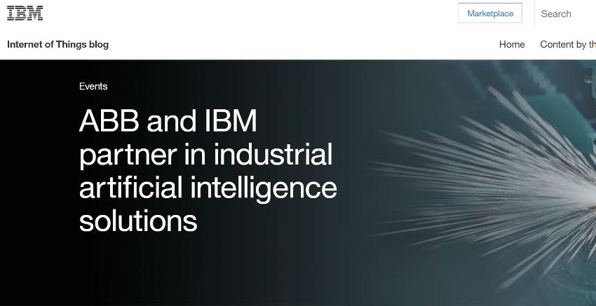 ABBとIBM 、産業用AIソリューション開発のため戦略提携を発表