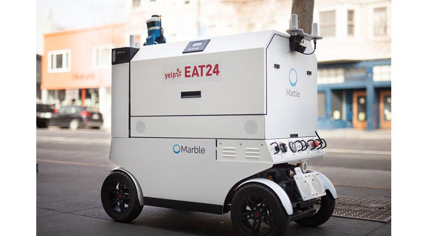 NVIDIA Jetsonを搭載したMarbleのロボット、サンフランシスコで出前中
