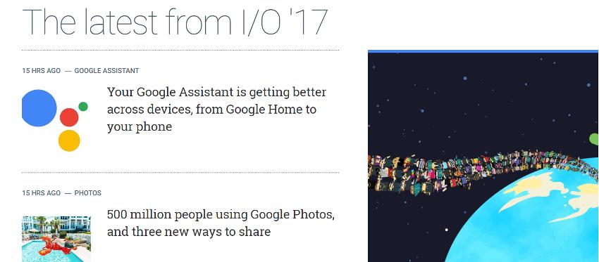 Google I/Oカンファレンスの初日発表
