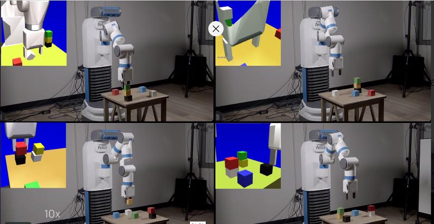 VR環境での激速ロボット訓練