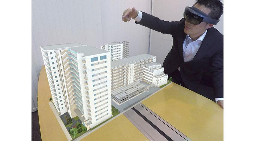 ネクストスケープ、野村不動産ら3社、マイクロソフトホロレンズをマンション販売に採用