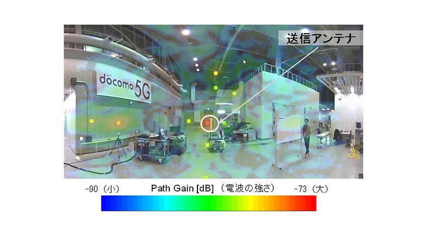 NTTドコモ、「5Gリアルタイム電波ビジュアライザ」を開発