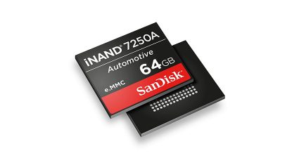 ウエスタンデジタル、コネクテッドカー技術のデータ需要に対応する組み込みストレージデバイス「iNAND 7250A」を発表