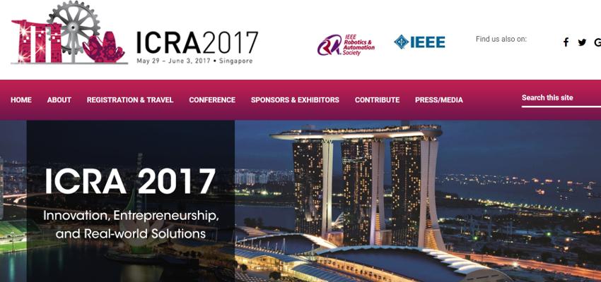 シンガポールのロボティクスとオートメーション国際カンファレンスに日本企業も参加