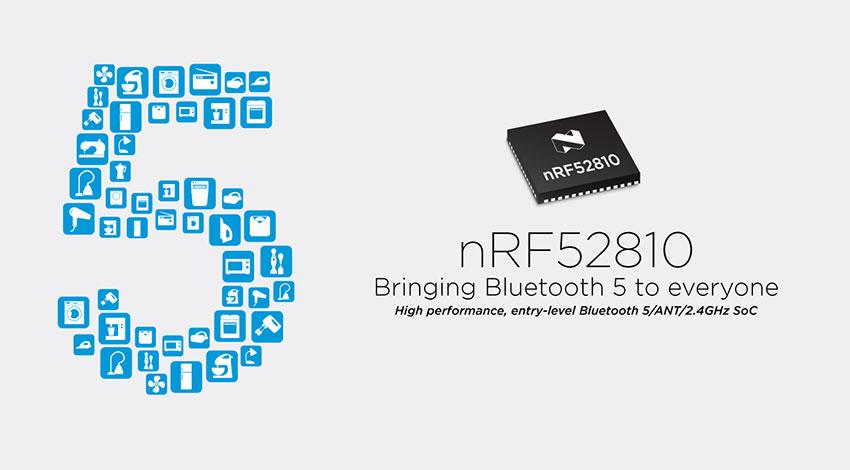 Nordic、ウェアラブルやPC周辺機器などのアプリケーションに対応したBluetooth 5 SoCの提供を開始