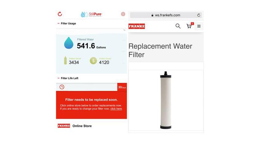 アプリックスの浄水器向けIoTソリューション採用のフィルター・モニタリング・デバイス、キッチンメーカーFrankeから発売