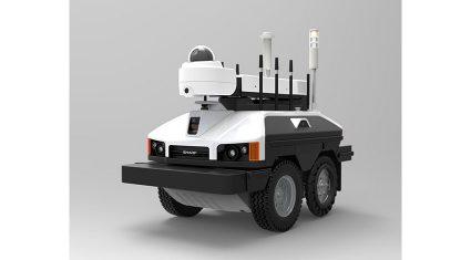 シャープ、不審者侵入などを遠隔監視できる屋外自律走行監視ロボットを米国で発売